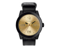 Nixon A243-010 Men's The Corporal Rugged Horween Leather Watch