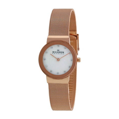 Skagen 358SRRD Ladies PVD Rose Gold Plating Watch