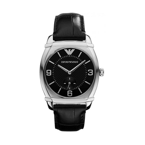Emporio Armani AR0344 Ladies Black Leather Watch