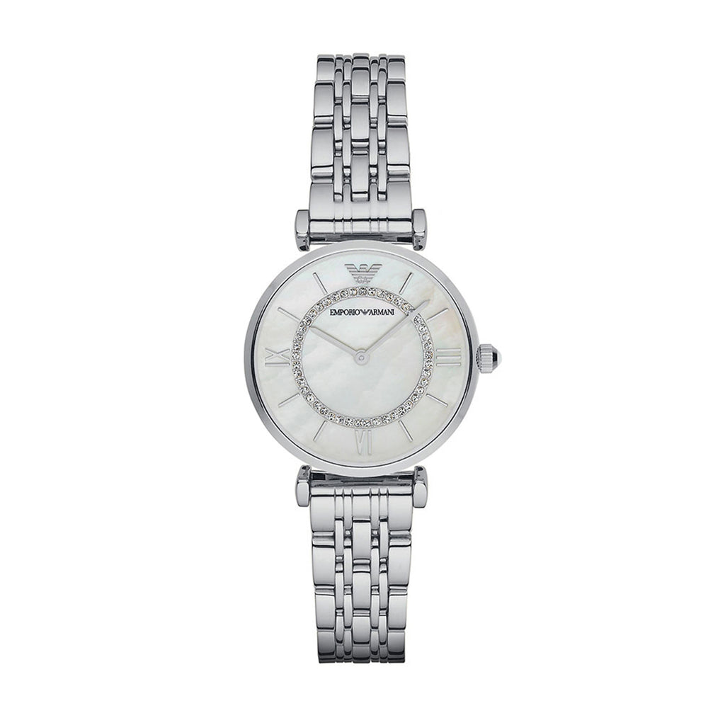 Emporio Armani AR1908 Ladies Gianni T-Bar Silver Watch