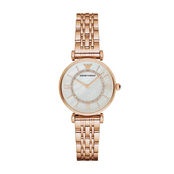 Emporio Armani AR1909 Ladies Gianni T-Bar Rose Gold Watch