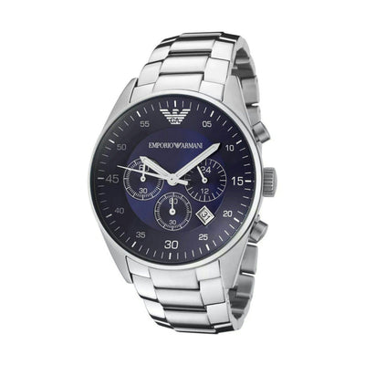 Emporio Armani AR5860 Men's Silver Chronograph Watch