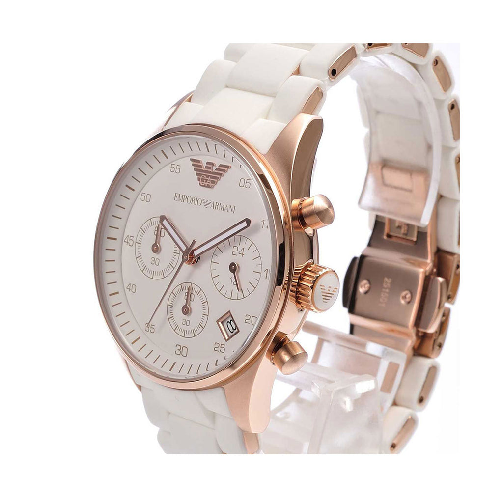 Emporio Armani AR5920 Ladies White Strap Watch