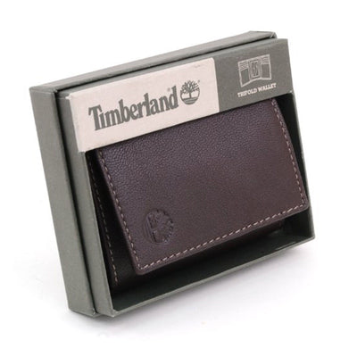Timberland D92221/01TN Brown Leather Antique Trifold Wallet