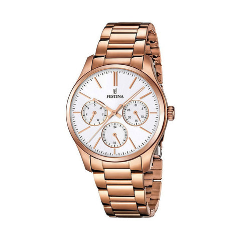 Festina F16816/1 Ladies White Dial Multi-Function Watch