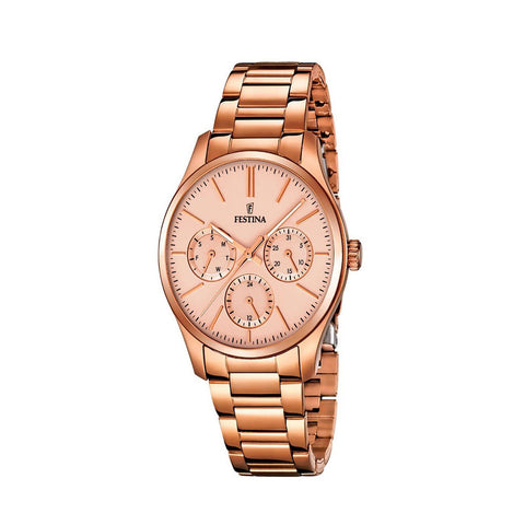 Festina F16816/2 Ladies Rose Gold Multi-Function Watch