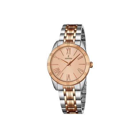 Festina F16941/2 Boyfriend Ladies Rose Gold & Silver Watch