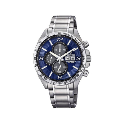 Festina F6861/3 Mens Blue Dial Chronograph Watch