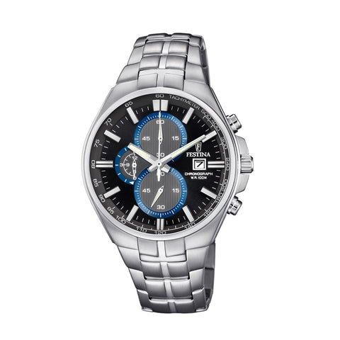Festina F6862/2 Mens Black Dial Chronograph Watch