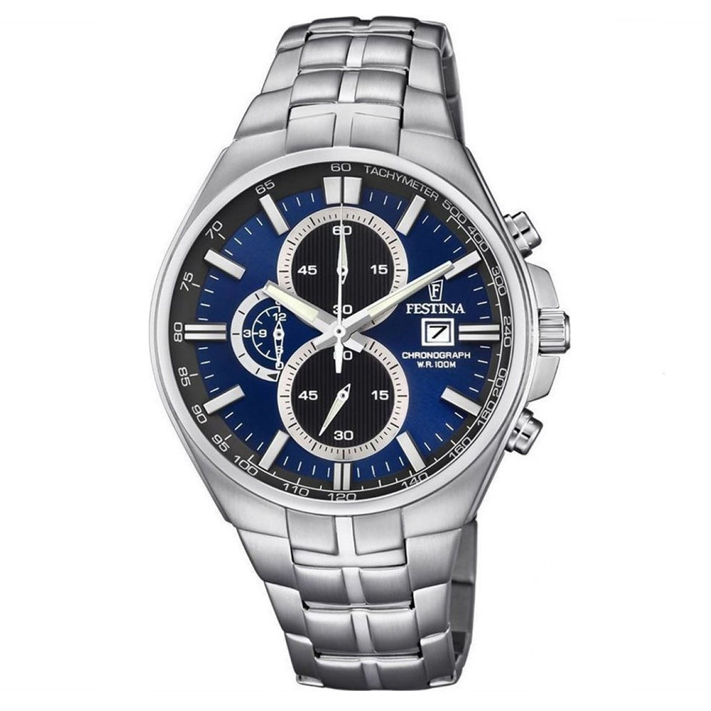 Festina F6862/3 Mens Blue Dial Chronograph Watch
