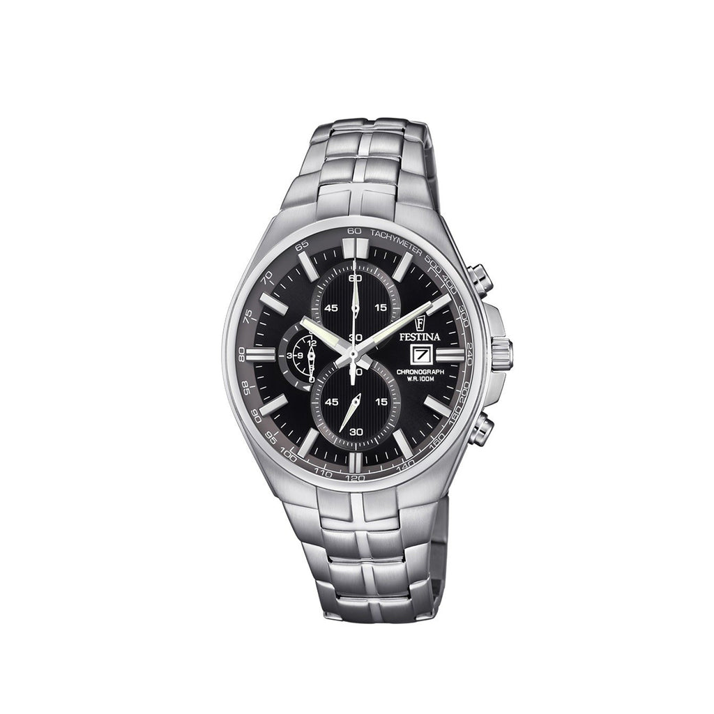 Festina F6862/4 Mens Black Dial Chronograph Watch