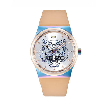 Kenzo K0022005 Beige Leather Strap Ladies Watch