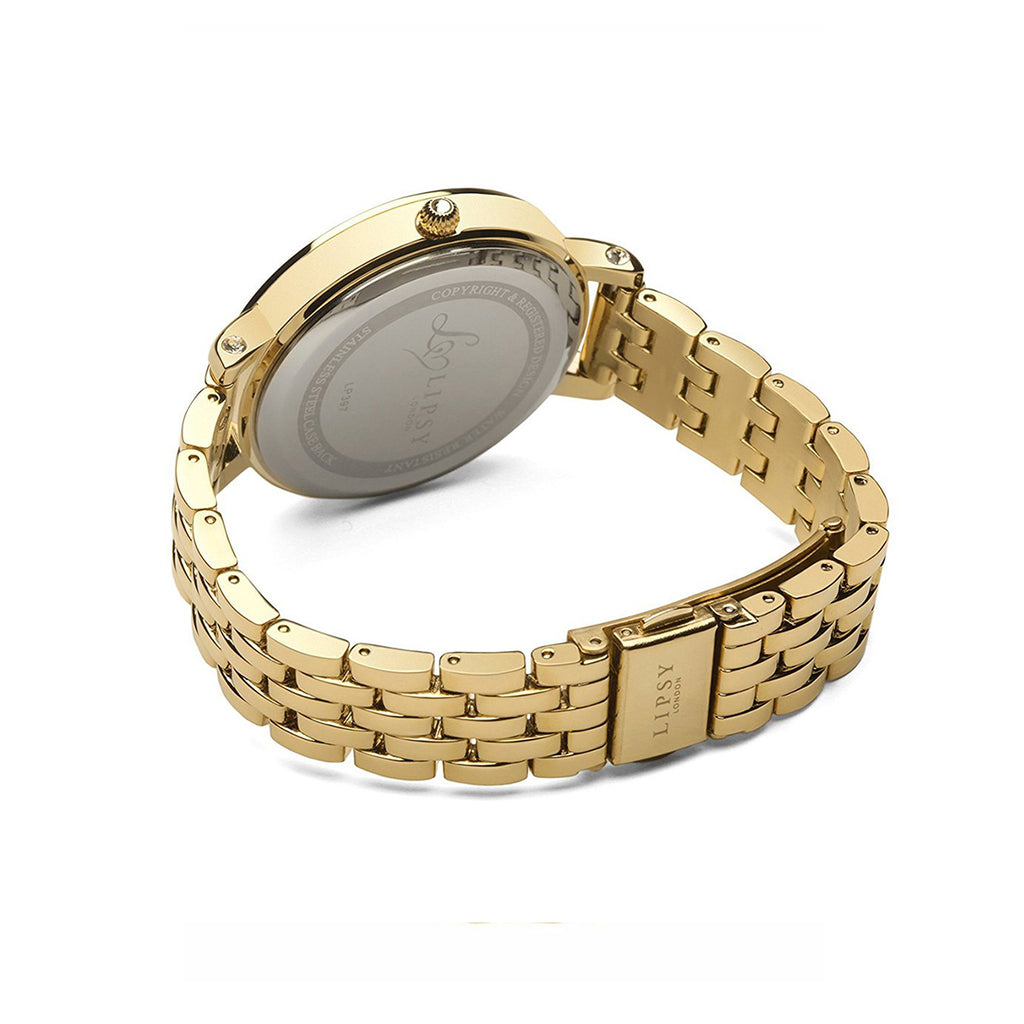 Lipsy LP397 Ladies Gold Stainless Steel and Dial Watch