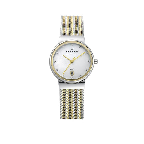 Skagen 355SSGS Ladies Mother of Pearl Stainless Steel  Quartz Watch