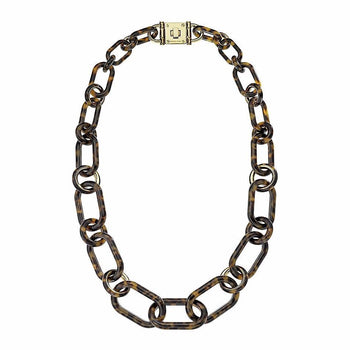 "Michael Kors MKJ1683710 Ladies Tortoise Shell Chain Link 32"" Necklace"