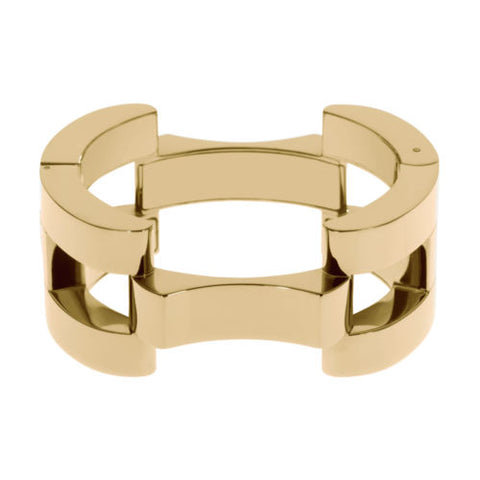Michael Kors MKJ1889710 Ladies Hollywood Square Link Gold Bangle