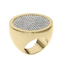 Michael Kors MKJ1995710M Ladies Golden Pave Slice Ring- Size 7
