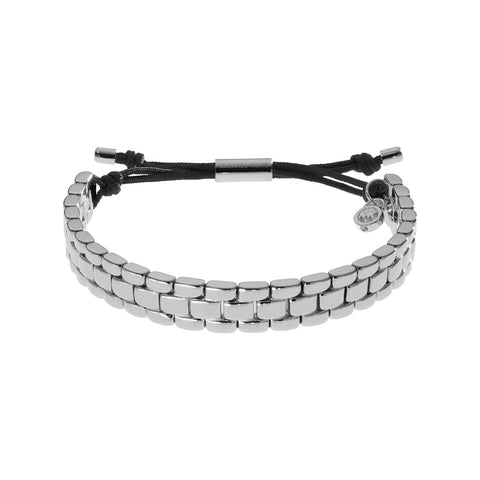 Michael Kors MKJ2018040 Ladies Silver Tone Band Bracelet