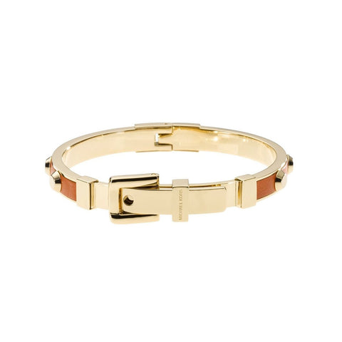 Michael Kors MKJ2330710 Ladies Stainless Steel Orange Band Bangle