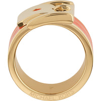 Michael Kors MKJ2338710 Ladies Gold / Orange Ring- Size 7