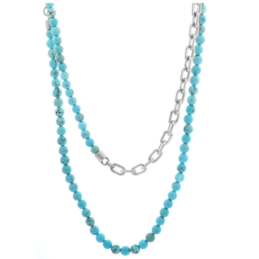 Michael Kors MKJ2438040 Collar Long Bead Turquoise Necklace