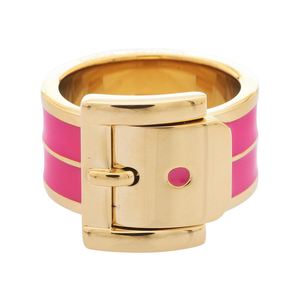 Michael Kors MKJ2545710506M Pink and Gold-Tone Ring- Size 7