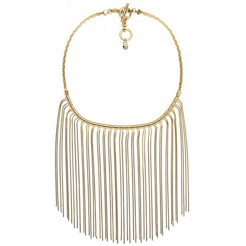 Michael Kors MKJ2690710 Ladies Seaside Gold Bib Fringe Necklace