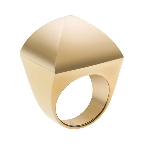 Michael Kors MKJ2906710 Ladies Gold-Tone Pyramid Stud Ring