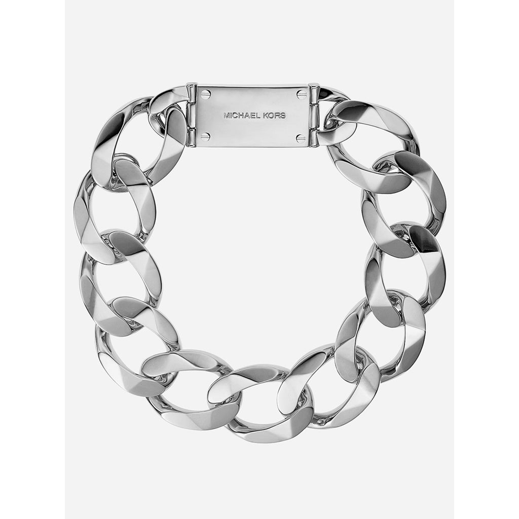 Michael Kors MKJ2978040 Silver Tone Metal Linked Chain Necklace