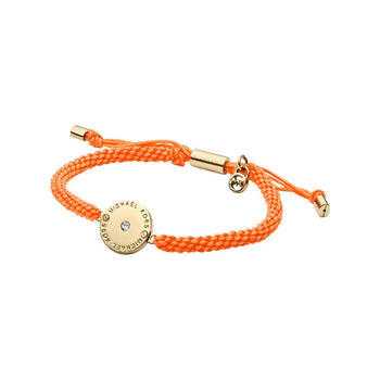 Michael Kors MKJ3276710 Ladies Orange Weave Disc Bracelet