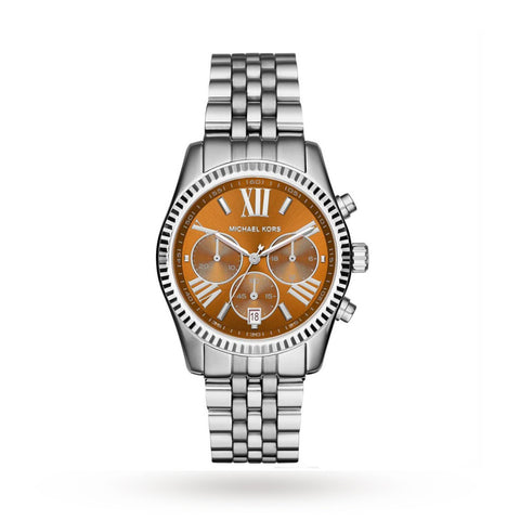 Michael Kors MK6221 Ladies Lexington Silver Chronograph Watch