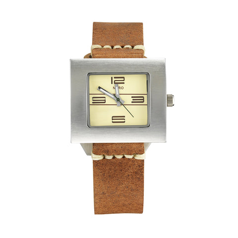 Nero Steel 104 Ladies Tan Leather Strap Watch