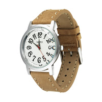 Nero Steel 105 Unisex Sand Leather Strap Watch