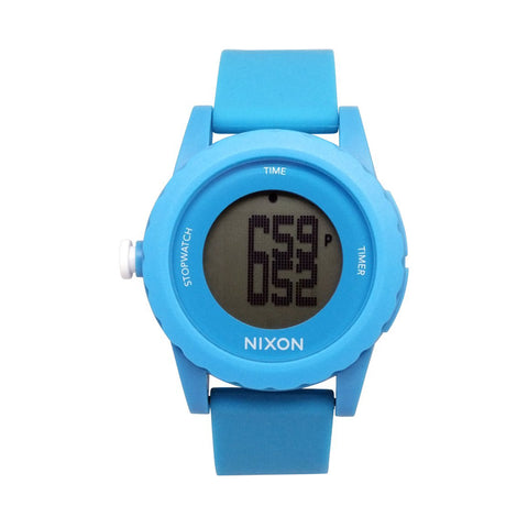 Nixon A326-917 Mens Genie Digital Light Blue Watch