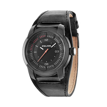 Police L.94433AEU/02 Men's Black Leather Strap Watch