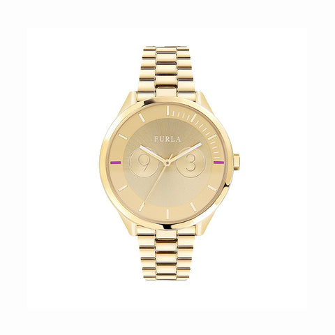 Furla R4253102504 Metropolis Ladies Gold Watch