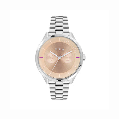 Furla R4253102505 Metropolis Ladies Salmon Dial Watch