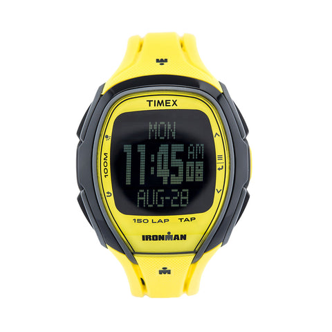 Timex TW5M00500 Men's Ironman Watch Sleek Yellow Resin Strap
