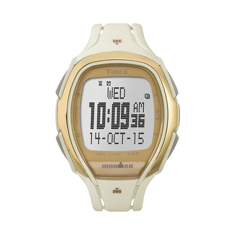 Timex TW5M05800 Ironman Ladies Watch Sleek White Multi-Function