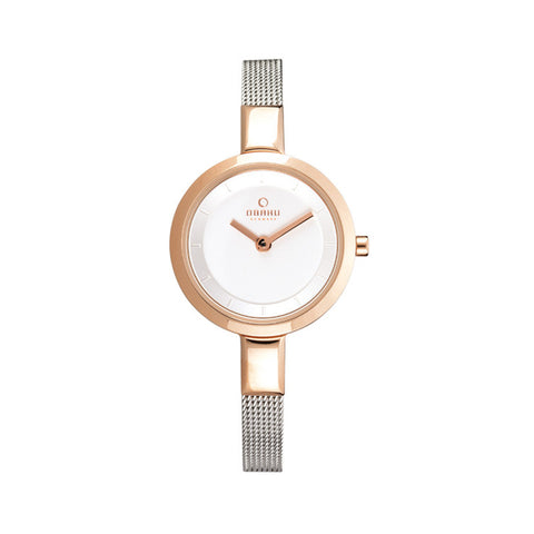 Obaku V129LXVIMC Ladies Rose Gold Case Watch