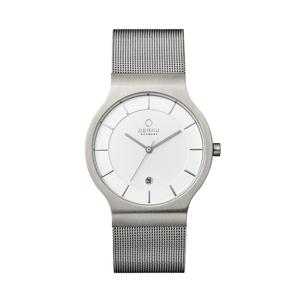 Obaku V133GCIMC1 Men's Stainless Steel Mesh Quartz Watch