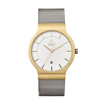 Obaku V133GDGIMC1 Men's Stainless Steel Mesh Quartz Watch