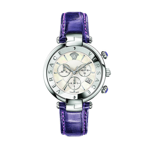 Versace VAJ030016 Revive Chrono Ladies Leather Watch