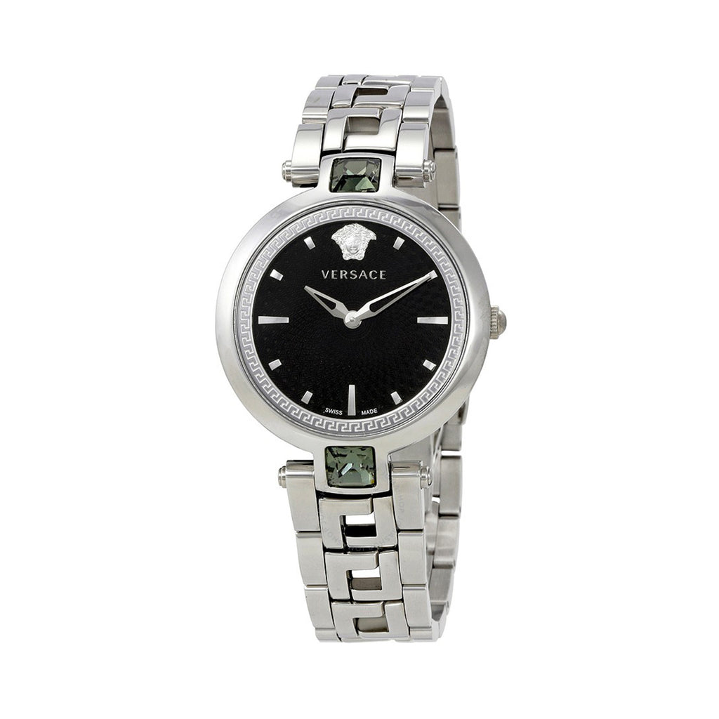 Versace VAN030016 Crystal Gleam Ladies Black Swiss Watch