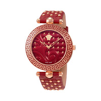 Versace VK7750017 Vanitas Ladies Red Enamel Dial Watch