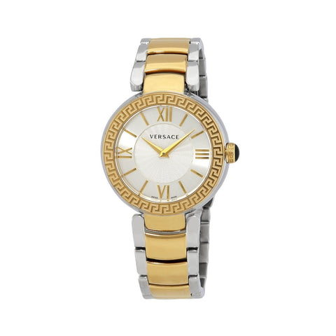 Versace VNC220017 Leda Silver Dial Ladies Two Tone Watch