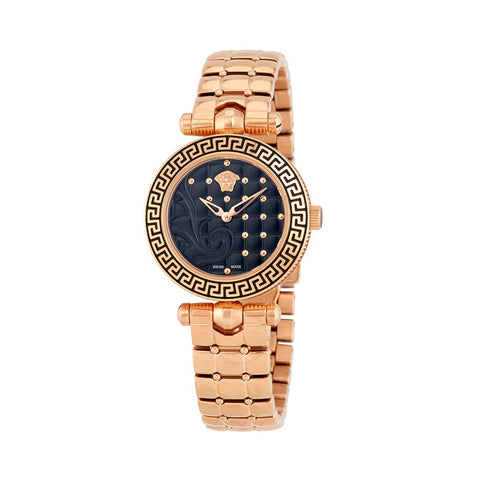 Versace VQM05 0015 Vanitas Ladies PVD Rose Gold Swiss Watch