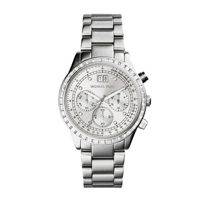 Michael Kors MK6186 Brinkley Ladies Silver-Tone Chronograph Watch