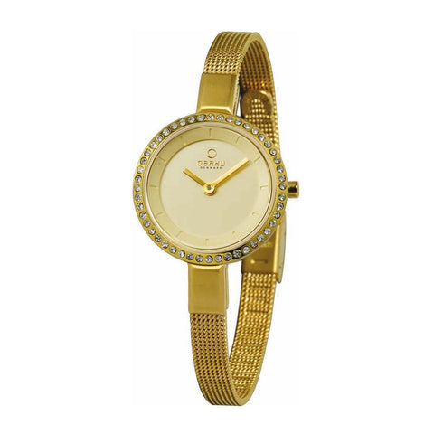 Obaku V129LEGGMG Ladies Gold Quartz Watch