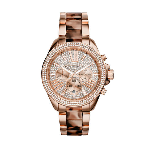 Michael Kors  MK6159 Ladies Wren Rose Gold Chronograph Watch